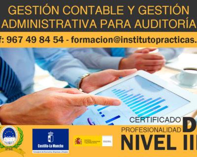 Gestión Contable y Gestión Administrativa para Auditoria   Certificado de Profesionalidad Nivel III