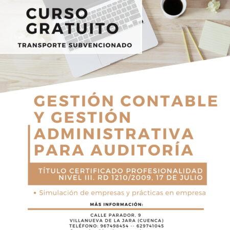 Curso 2021: Gestión Contable y Gestión Administrativa para Auditoria | Certificado de Profesionalidad Nivel III